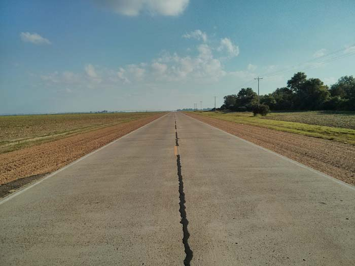 Image of Highway 61 south of Leland in Mississippi