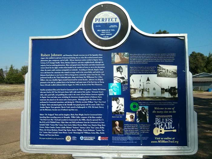 Mississippi Blues Trail marker in Baptist Town