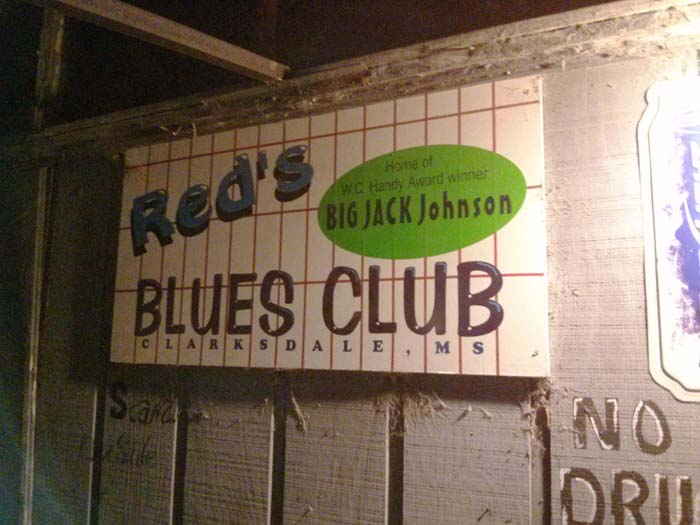 Sign outside Red's Lounge in Clarksdale