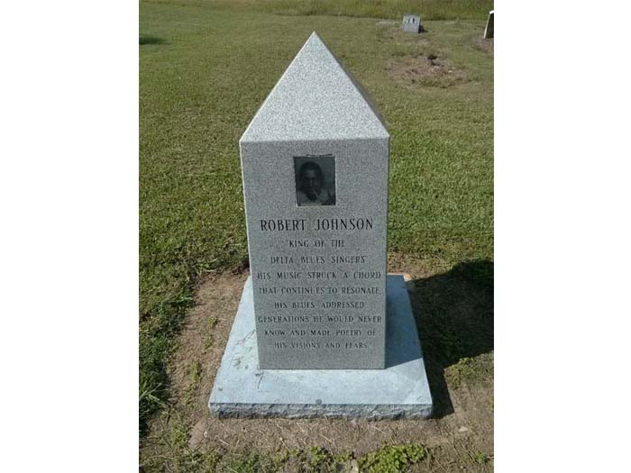 The second Robert Johnson 'grave' at Mount Zion Missionary Baptist Church near Morgan City