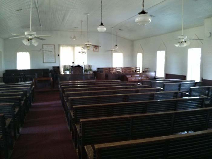 Inside Little Zion MB church