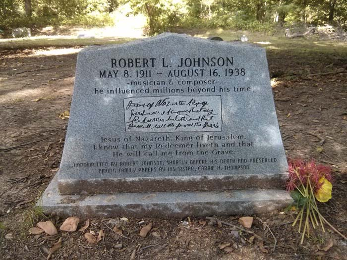 Note reproduced on Robert Johnson's true grave marker, written by him just before he died