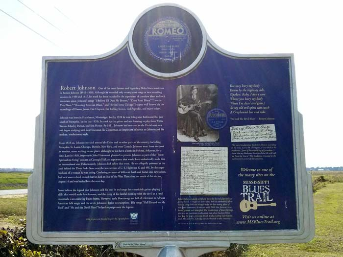 Other side of the Mississippi Blues Trail marker