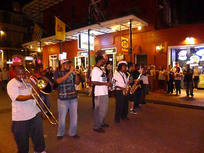 A band on Bourbon Street