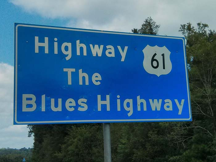 The Blues Highway road sign