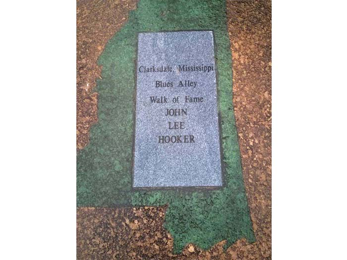 'Walk of Fame' plaque just outside the Delta Blues Museum for John Lee Hooker
