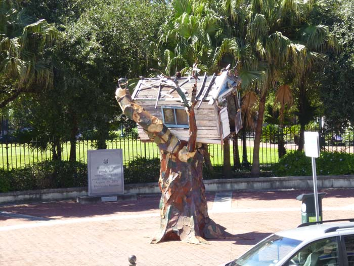 Memorial to Hurricane Katrina in New Orleans