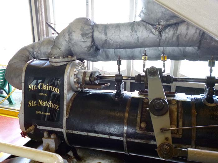 The original engine still powers the steamer