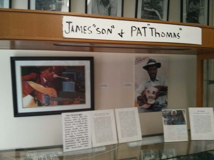 Display case in the museum about Pat and Son Thomas