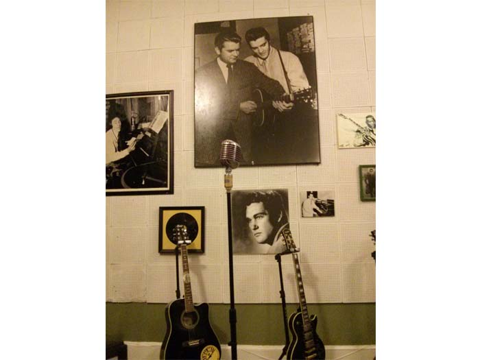Another view of Elvis' microphone