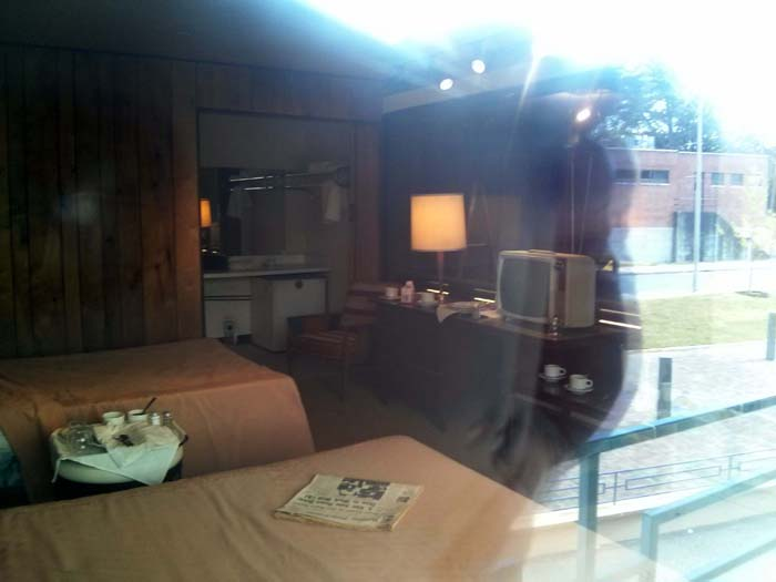 Looking inside MLK's room at the Lorraine Motel