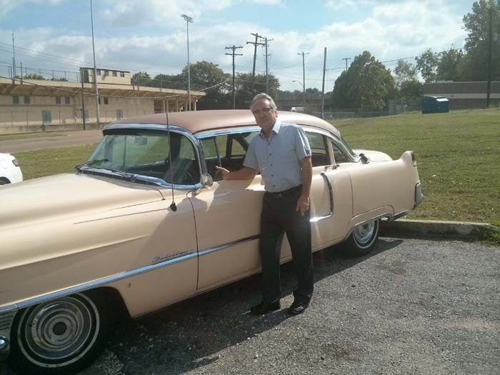Tad and his pink Cadillac