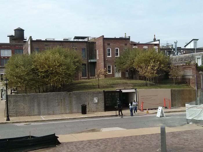 The view from the point where MLK was shot looking towards the rooming house