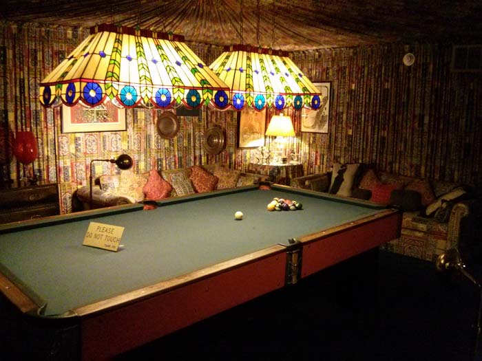 Billiards Room in the basement at Graceland
