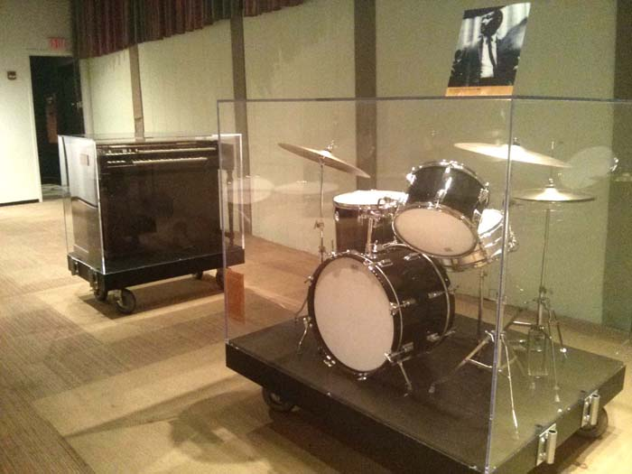 Booker T's organ and Al Jackson, Jr.'s drum kit in Studio A at Stax