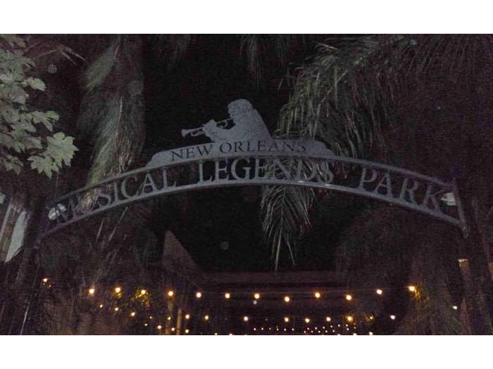 Musical Legends Park entrance on Bourbon Street
