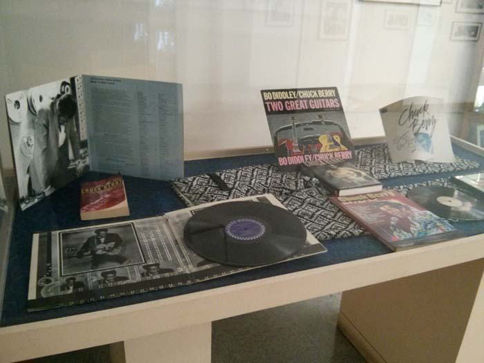 Display case at Chess Records
