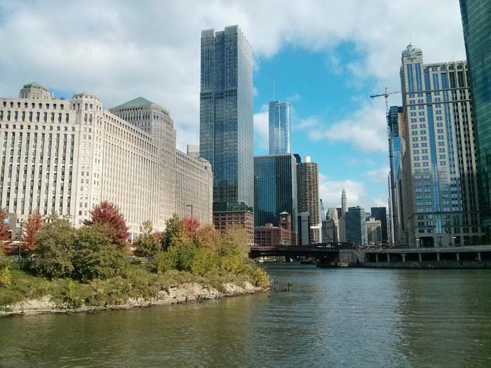 A view of the city on the River Architecture tour