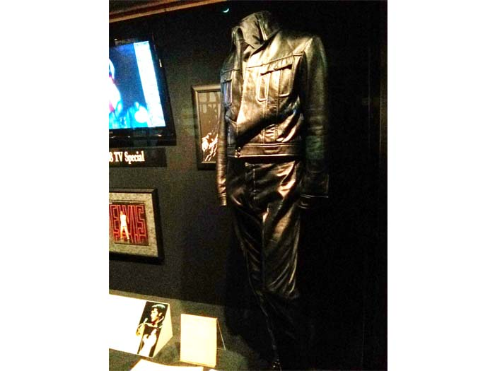 Elvis' black leather jump suit worn on the '68 Comeback Special