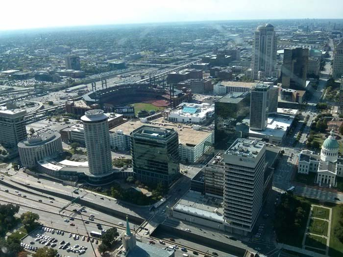 View from the top of the Gateway Arch