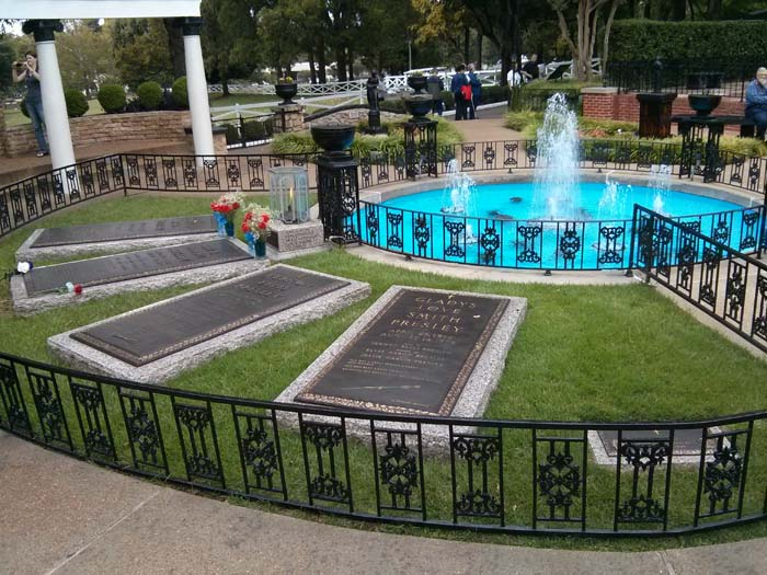 Grave stones in the Meditation Garden at Graceland