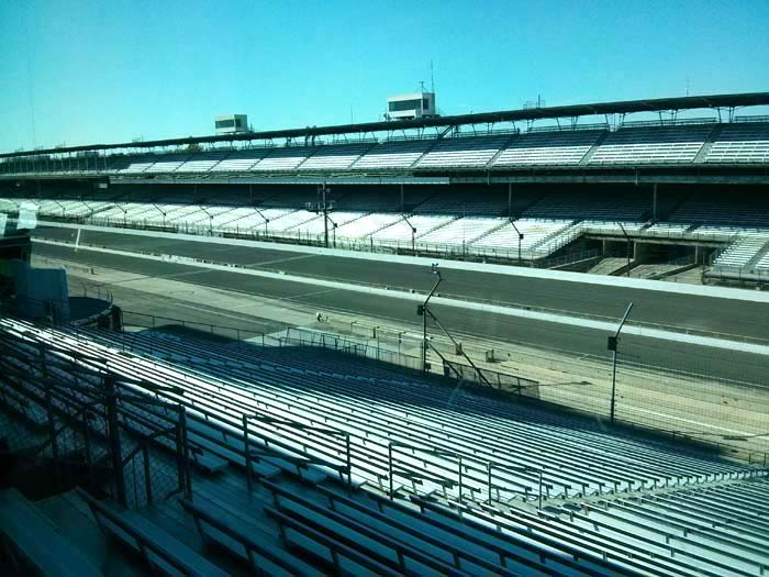 View from the Media Centre of the Indianapolis Motor Speedway