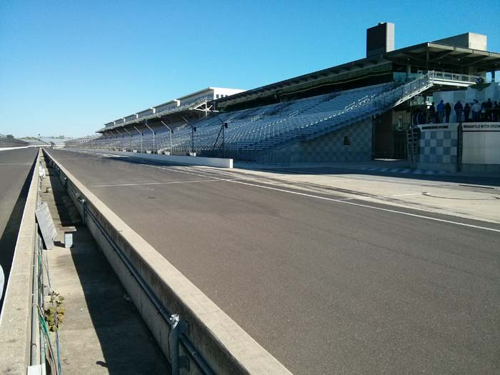 Pit lane of the Indianapolis Motor Speedway