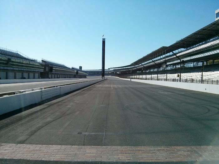 Home straight of the Indianapolis Motor Speedway