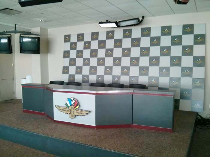 Winner's Press Conference Room at the Indianapolis Motor Speedway