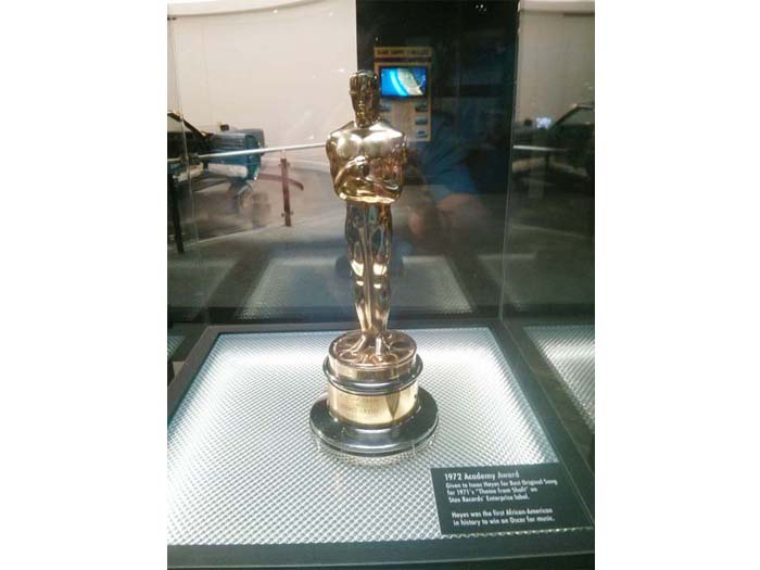 "Isaac Hayes' Oscar for Best Original Song - the ""Theme from Shaft"""