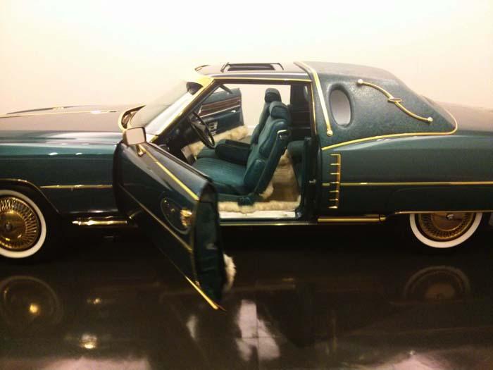 Issac Hayes' 1972 gold-trimmed, peacock-blue Cadillac El Dorado