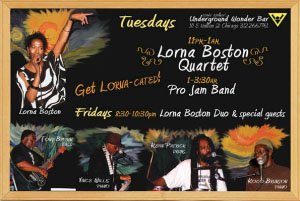 Lorna Boston Quartet flyer