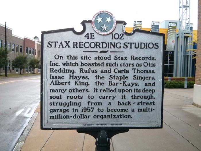 Marker sign outside the Stax Museum