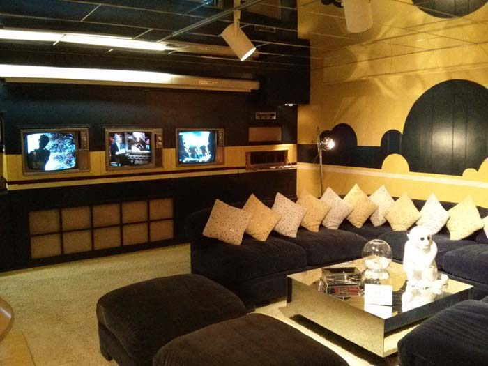 Media Room in the basement of Graceland