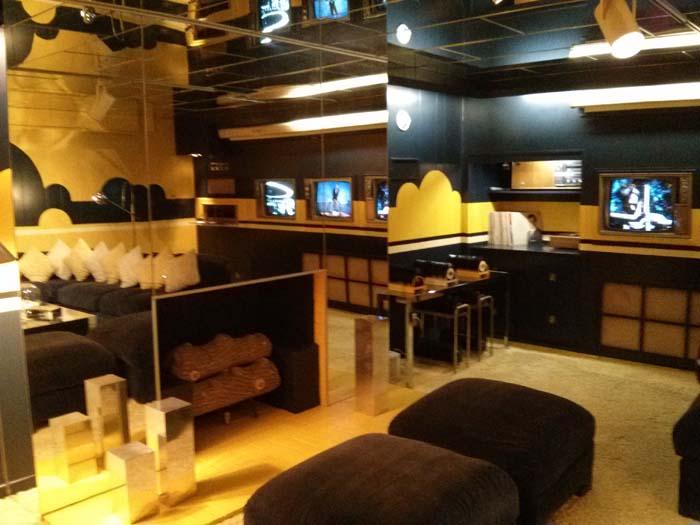 Media Room in the basement of Graceland