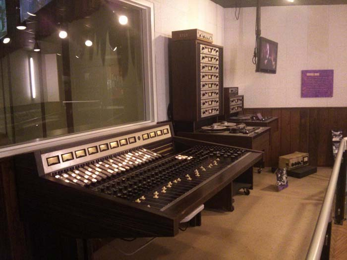The studio control room at Stax