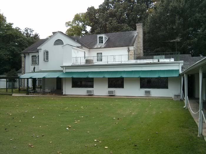The back view of Graceland