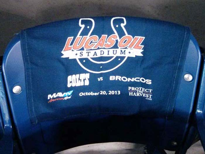 Towel from Lucas Oil Stadium