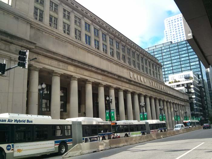 Outside Union Station, Chicago