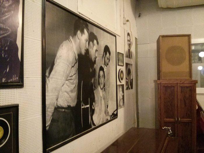 Left hand wall of Sun Studio