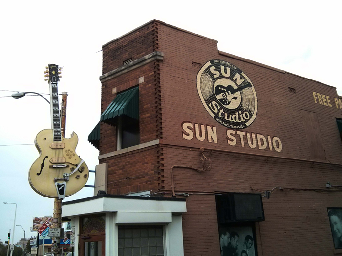 he original building that housed the Sun Records label, next door to the studio