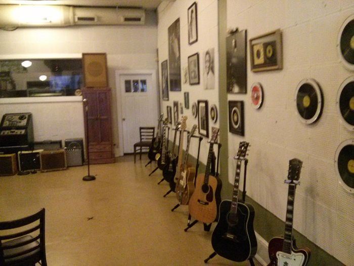 Right hand wall of Sun Studio