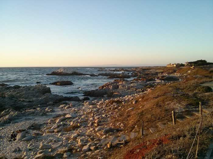View north on Asilomar Beach
