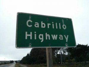 Cabrillo Highway road sign
