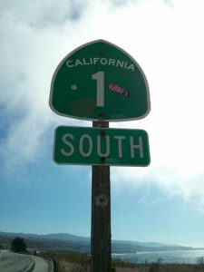 Highway 1 road sign