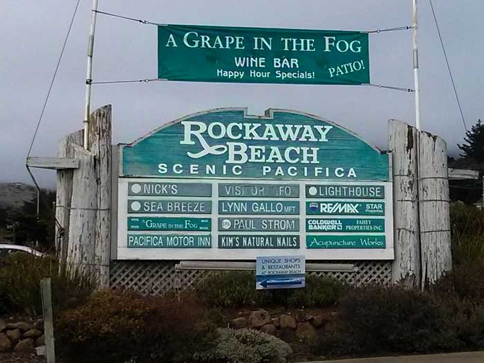 At the entrance to Rockaway Beach Road
