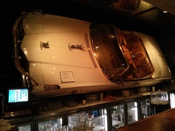 Car above the bar in Buck Owens' Crystal Palace