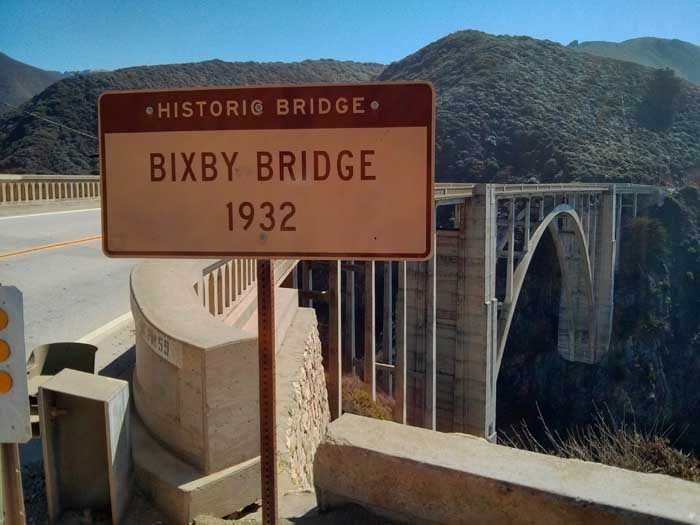 Bixby Bridge sign