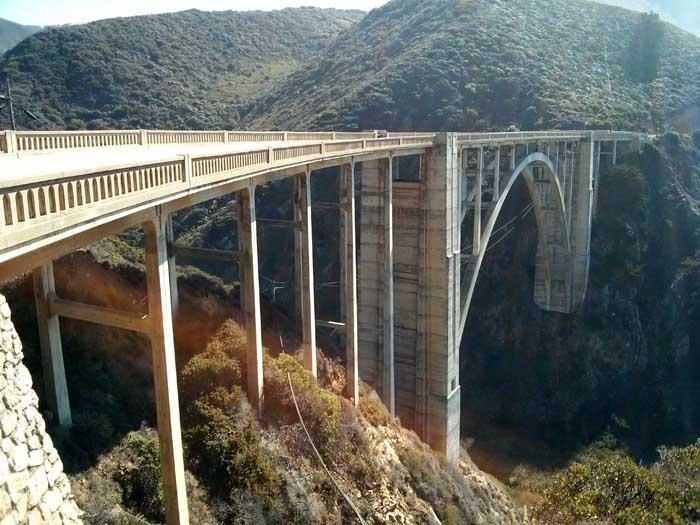 CLose-up of Bixby Bridge
