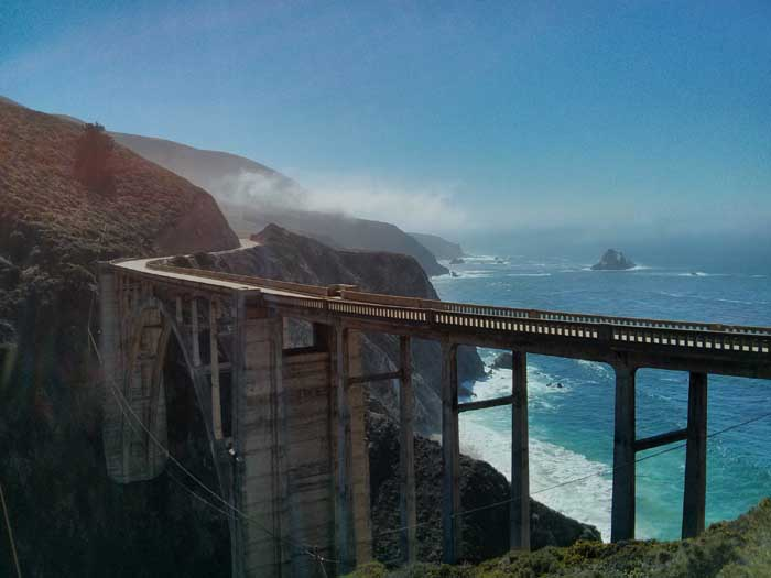Bixby Bridge from the other side of the road